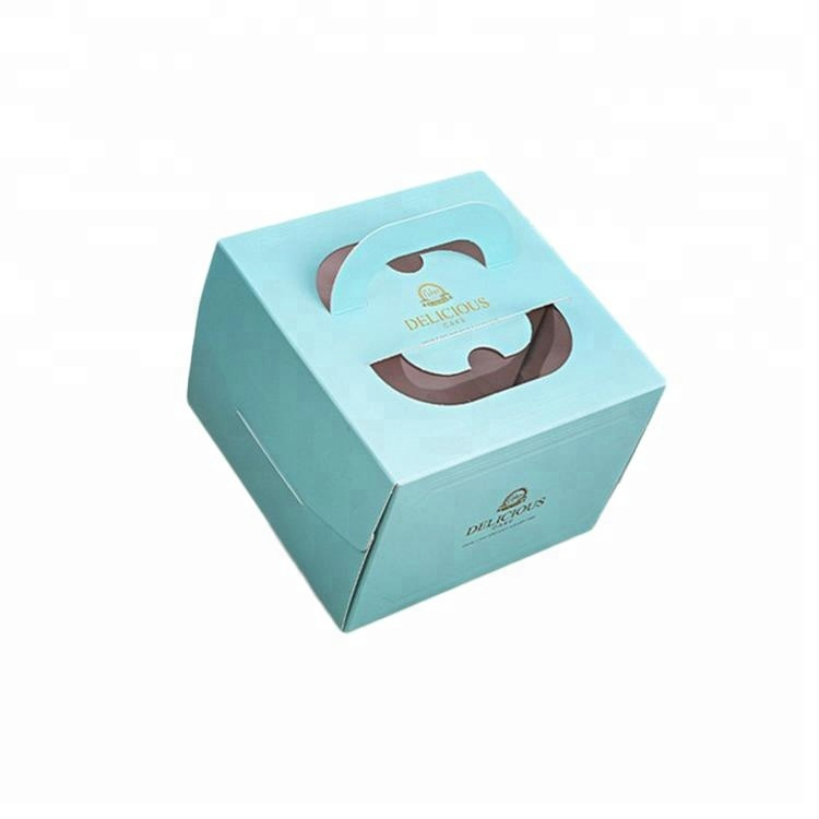 Wholesale Food Grade Paper Cake Bakery Package Box with Cut Out Window