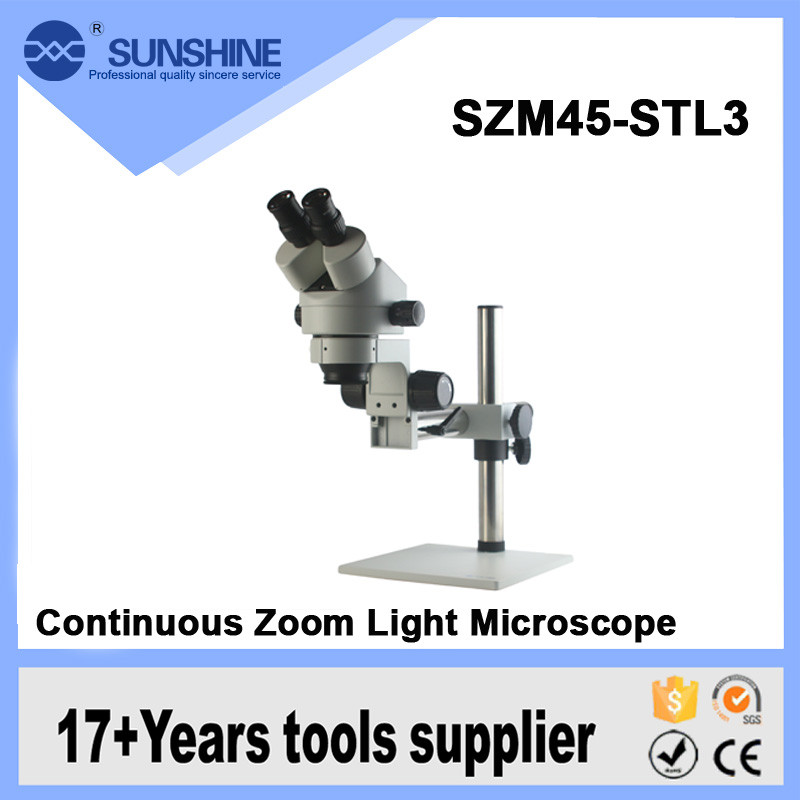 SUNSHINE 14x-200x Long Working Distance Digital Light Electron Stereo Microscope