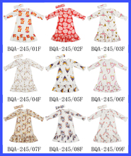 48BQA245Yihong Long Sleeve Big Ruffle Bottom Children Wholesale Smocked Dresses Kids Frock Designs Pictures Girls Dresses