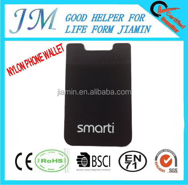 PRINT LOGO smart wallet elastic lylon for Celephone 2014