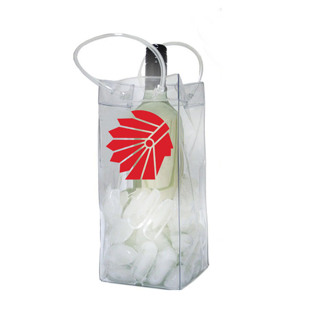 Oempromo custom Handle Vinyl pvc wine Cooler bag with logo printed