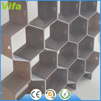 High quality Plastic Partition Honeycomb Style Underwear Socks Ties Belts Scarves Drawer Divider organizer Cabinet Clapboard