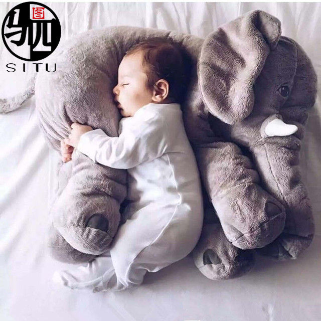 Infant Soft Appease Elephant Playmate Calm Doll Baby Toys Elephant Pillow Plush Toys Stuffed Doll