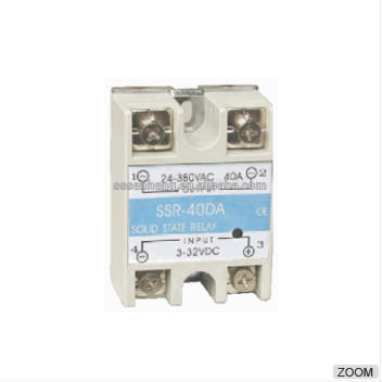 Factory price yueqing 3 phase AC 90 - 420V to DC 5V 12V 3 - 32V solid state relay with SSR series