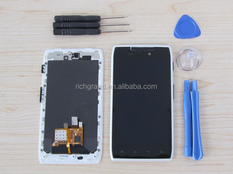 OEM for Motorola Droid Razr XT910 XT912 LCD display+ touch screen+ frame assembly white