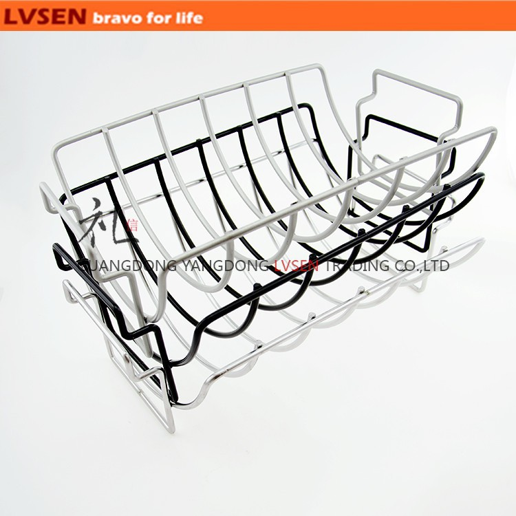 non-stick chicken wire reversible roasting rib rack