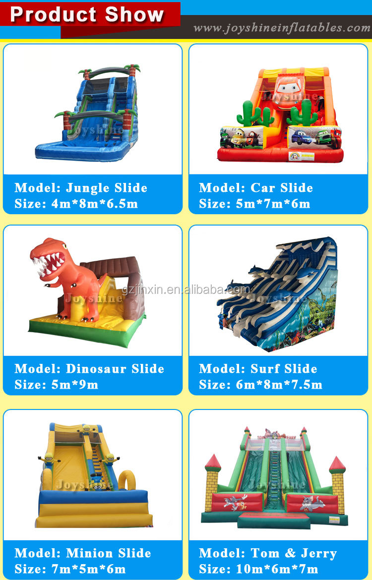 Factory Custom Large Inflatable Bouncy Kids Water Slides Park Bouncer Playground Inflatable Castle Slide With Pool
