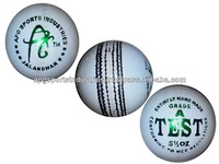 "APG TEST ""A"" GRADE WHITE LEATHER CRICKET BALLS"