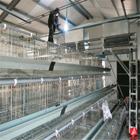 kenya poultry farm house A type layer galvanized welded wire mesh egg chicken cage