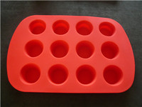 wholesale new arrival silicon 12 hole cake mould,cake baking mold