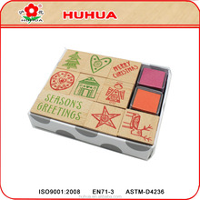 wooden stamp set,non-toxic diy kids stamps,colorful toy stamp