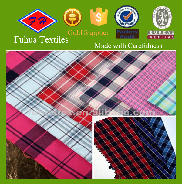 100%cotton tartan plaid cotton fabric/upholstery fabric plaid car