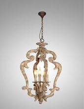 birch wood country style Chandeliers C3184-4 antique lighting old style light