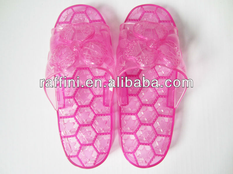 PVC foot massager slipper women