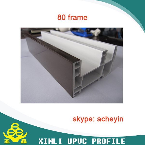 pvc profile and plastic steel handle for window with high quality