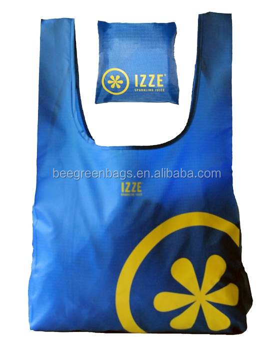 BeeGreen Personalized ripstop polyester t shirt packable custom made shopping bags