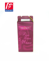 portable 2 bottle wine paper packaging box