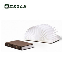 Wholesale Customized Folding Tyvek Paper Rechargeable Led Wood Book Lamp