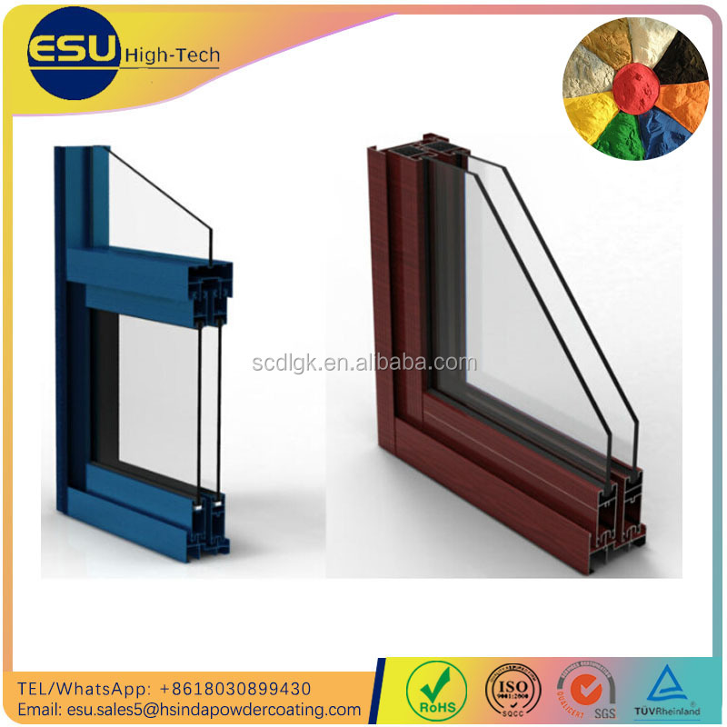 Waterproof Building Curtain Wall Aluminium Profiles Powder Coating Paint