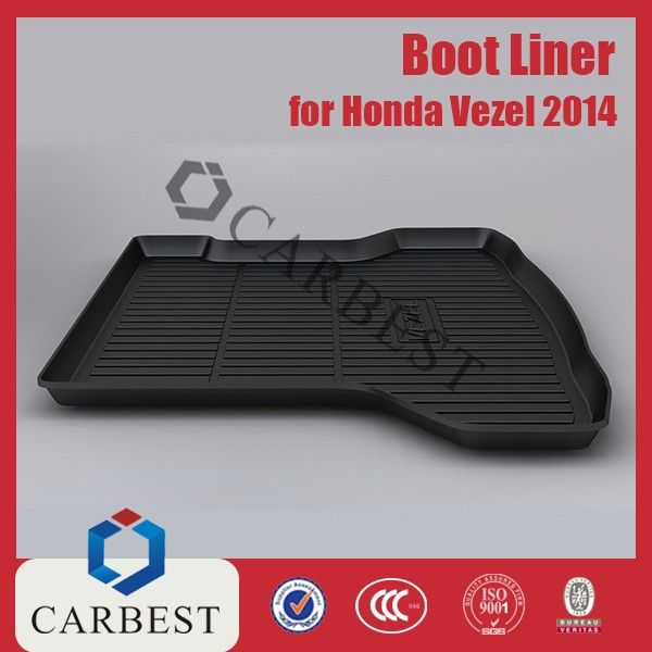 High Quality Black Plastic Car Boot Liner Exterior Accessories for 2014 Vezel Honda