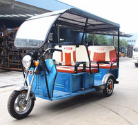 48V 800W Electric Rickshaw with Roof / 3 Wheeler Passenger Tricycle