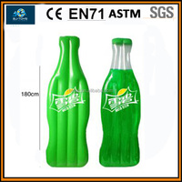 new design Sprite promotional inflatable floater,sprite inflatable mattress