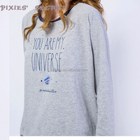Women fashion long sleeve split hem stylish pullover wholesale camo sweatshirts hoodies without hoodie jacket sweat shirt