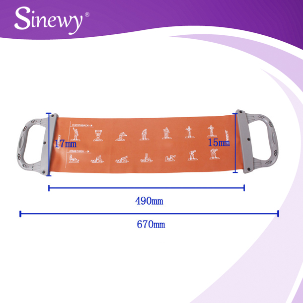 Strong tension resistance tube chest expander with strong pulling force