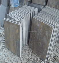 chinese slate flexible stone veneer panel stacked slate