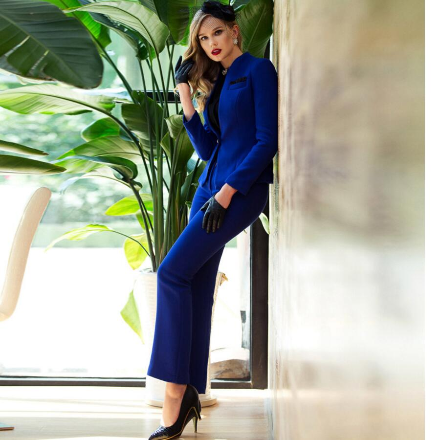 79632be2531 10.1 135 Women Pant Suits High-end Women OL suit wool blended women s  custom made