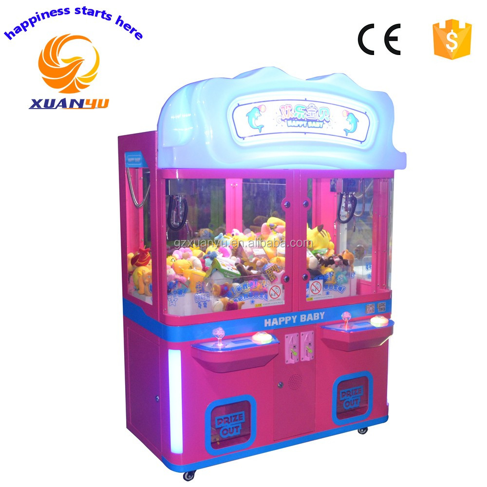 Cheap arcade games two player claw machine coin operated prize vending machine for sale