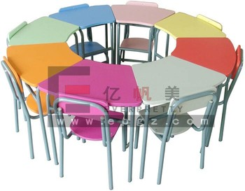 Kindergarten Furniture Guangdong Supplier Nursery Kids Reading Table and Chair