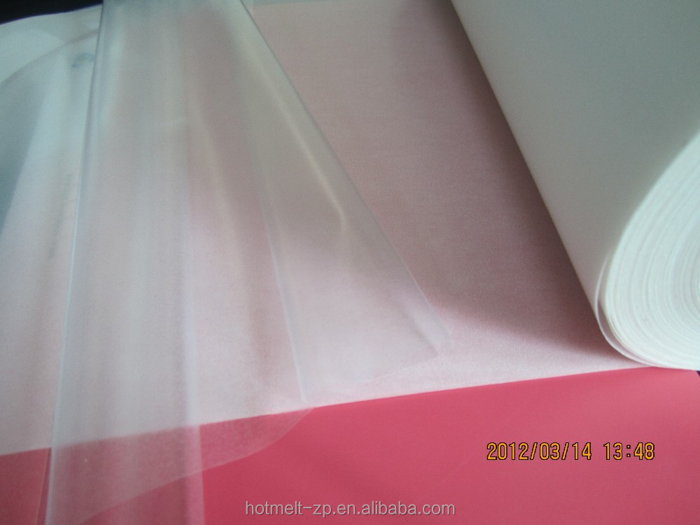 Seamless pocket hot melt adhesive films/web