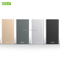 New Aluminum alloy case power bank for mobile phone,5-volt battery ,small quick cell 5000mAh, 2 inputs