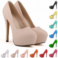 C88754A Sexy lady platforms high heels shoes womens dress shoes party high heel shoes