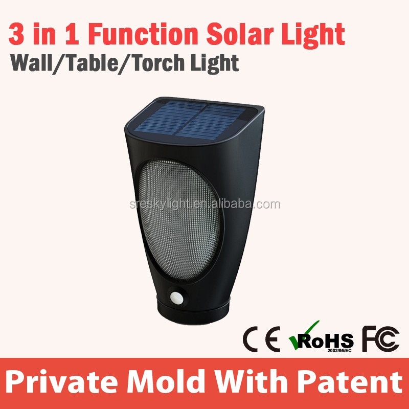 Solar power LED torch light portable power bank