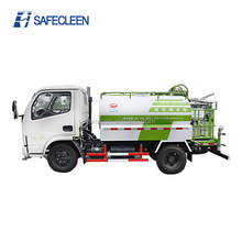 4x2 water tank truck with water spray sprinkler for street cleaning
