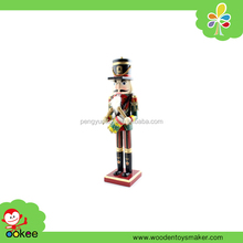 "Popular 12"" Drum Nutcracker Wooden Soldier Toys Ornaments Holiday Decoration Gifts"