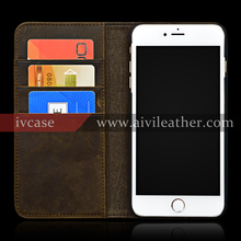 Luxury Genuine Leather Case For iphone 7 Mobile Phone Stand Phone Cover