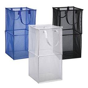 Foldable Mesh Storage Cube Laundry Basket