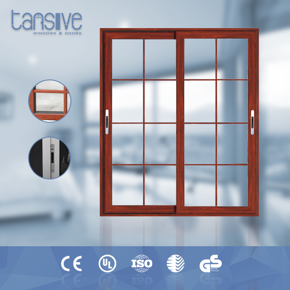 Astralian standard double glass fireproof sliding wood door mechanism