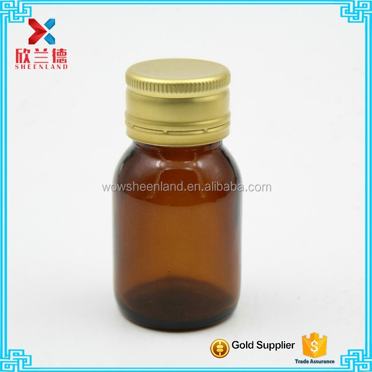 30ml Amber Glass Oral Liquid Bottle with Screw Top