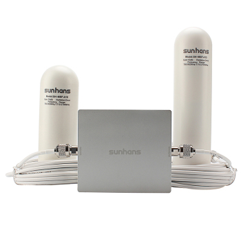 900/2100MHz dual-band EGSM/3G mobile signal repeater with fiberglass antenna