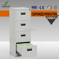 Made in China office lateral 4 drawer plastic office document file cabinet