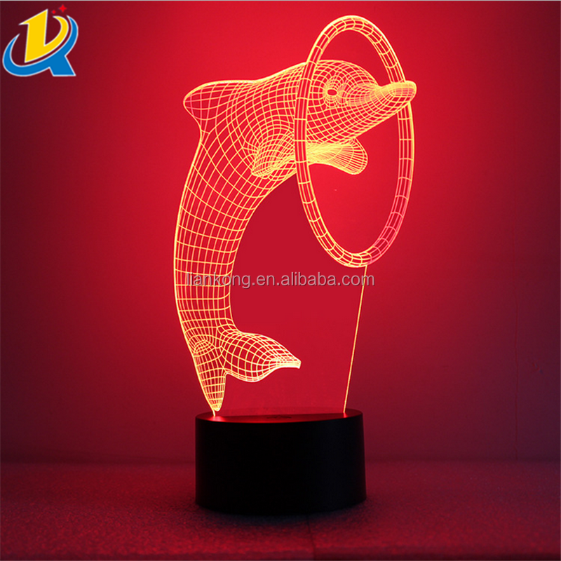 Wholesale good quality acrylic 3d led cute shape baby night light