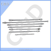 8000/12400/18350/33500LBS rated Tensile Strength / Steel Threaded Rods /Double Arming Bolts