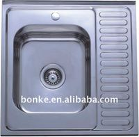 Above Counter Kitchen Drain Board Sink of KIS6060, commercial sink
