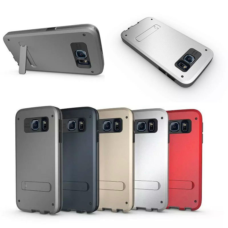 For Samsung Galaxy S6 Rubber Hrad Case Cover, Shockproof Hybrid Case for Samsung S6, Protective for Samsung Galaxy S6 Models