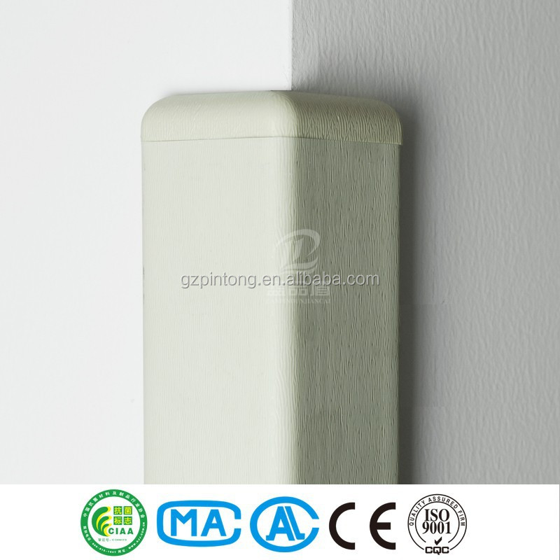 wall corner white bumper guard