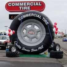 2018 New design customized inflatable tire advertising cheap on sale